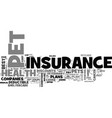 a comparison of five pet health insurance plans vector image vector image