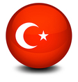 A soccer ball with the flag of Turkey vector image vector image