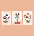 abstract minimalist mushroom art modern mushroom vector image vector image