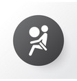 airbag icon symbol premium quality isolated vector image vector image