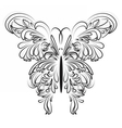 Artistic ornamented butterfly vector image