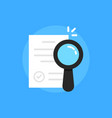 audit control like risk research symbol vector image