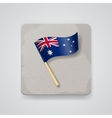 Australia flag icon vector image vector image