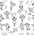 background playful kids vector image vector image