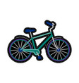 bike embroidery patch vector image vector image