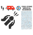 blowjob ejaculation icon with 1300 medical vector image vector image