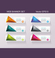 business design template option banners vector image vector image