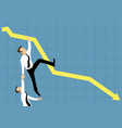 business people falling down vector image