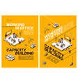 capacity building working in office vector image