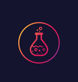 chemistry reaction in test tube icon vector image