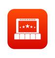 cinema icon digital red vector image vector image