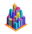 city buildings concept vector image vector image