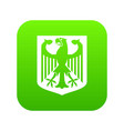coat of arms of germany icon digital green vector image