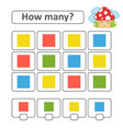 counting game for preschool children count as vector image vector image