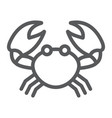 crab line icon animal and underwater vector image vector image