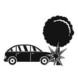 crashed tree icon simple style vector image