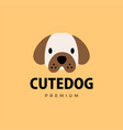 cute dog flat logo icon vector image vector image