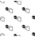 cute ghost seamless pattern halloween background vector image