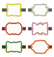 decorative labels vector image vector image