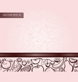 design template with hand drawn fruits for print vector image vector image