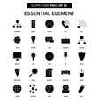 essential element glyph icon set vector image vector image