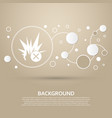 explosion icon on a brown background with elegant vector image