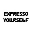 expresso yourself cute hand drawn doodle bubble vector image vector image