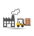 factory and truck icon vector image