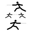 fencer stick icon black color flat style simple vector image vector image