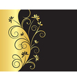 Floral Background in Black and Gold Colors vector image vector image