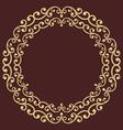 floral modern round frame vector image vector image