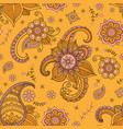 flowers and paisley pattern vector image vector image