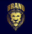 gold lion king logo for brand business vector image vector image