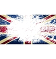 Great Britain flag Grunge background vector image vector image