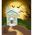 Halloween house background vector image vector image