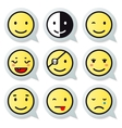 happy face speech bubble vector image
