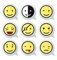 Happy face speech bubble