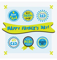Happy fathers day cute emblems set vector image vector image
