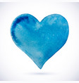 heart blue natural watercolor vector image