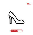 high heels icon vector image