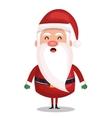 icon santa claus merry christmas design vector image