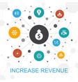 increase revenue trendy web concept with icons vector image vector image