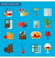 Interior Design Icons vector image vector image