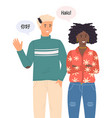 international nationality race man waving hand vector image vector image