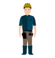 isolated civil engineer avatar vector image