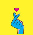 korean finger heart i love you vector image vector image