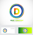 Letter D circle logo vector image vector image