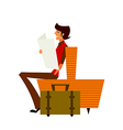 man reading newspaper vector image