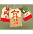 Merry Christmas Sale Tags vector image vector image
