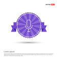 microphone icon - purple ribbon banner vector image